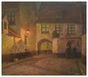 Le béguinage de Courtrai, le soir
